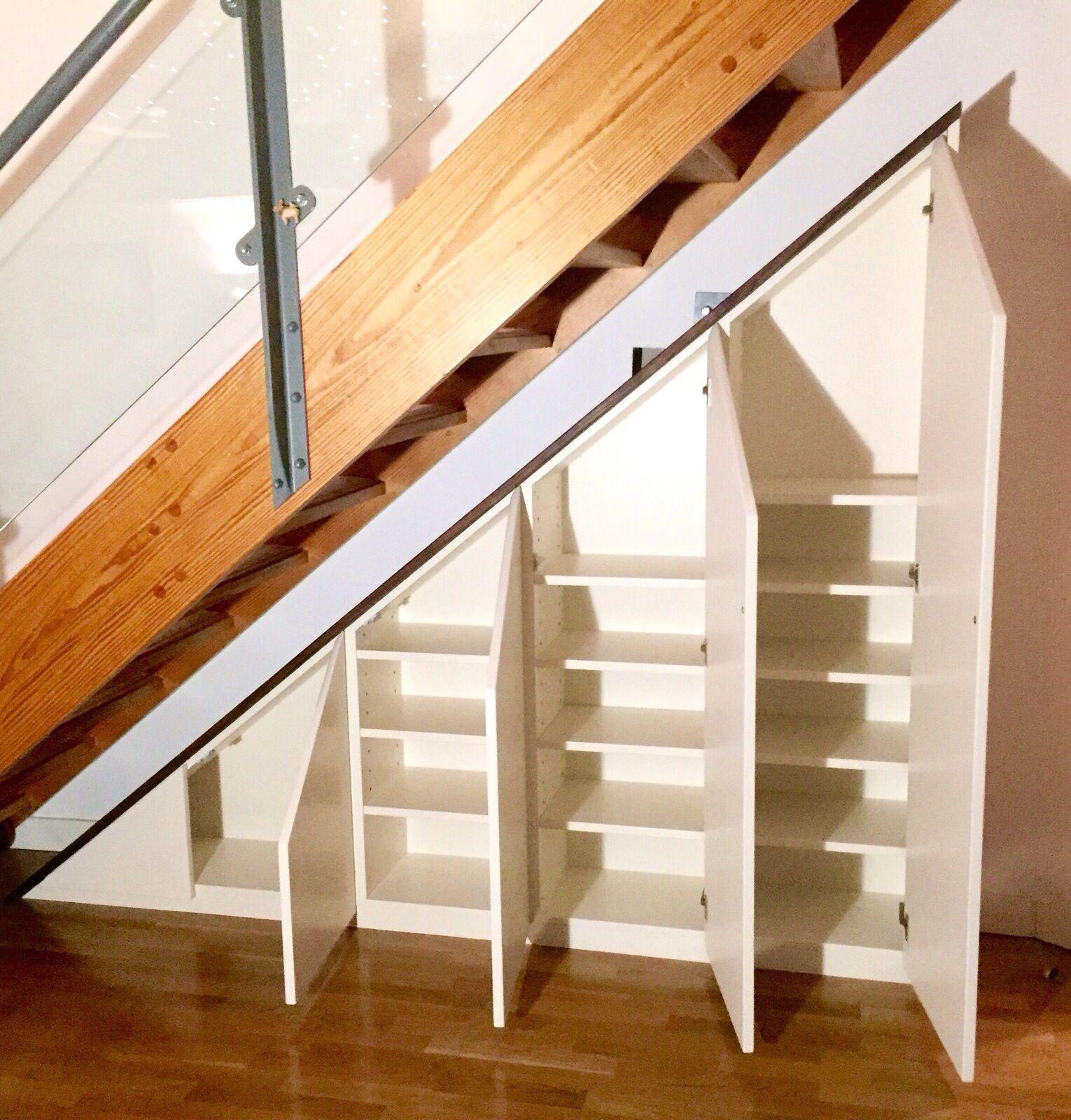 Bespoke Under Stairs Shelving: Under Stair Cabinet, Utilising Space/ Storage Ideas By