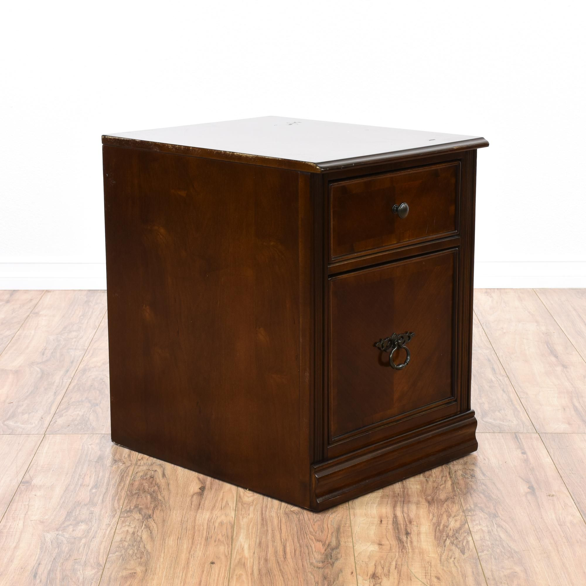 Small Dark Cherry Filing Cabinet   Office workstations, Large ...