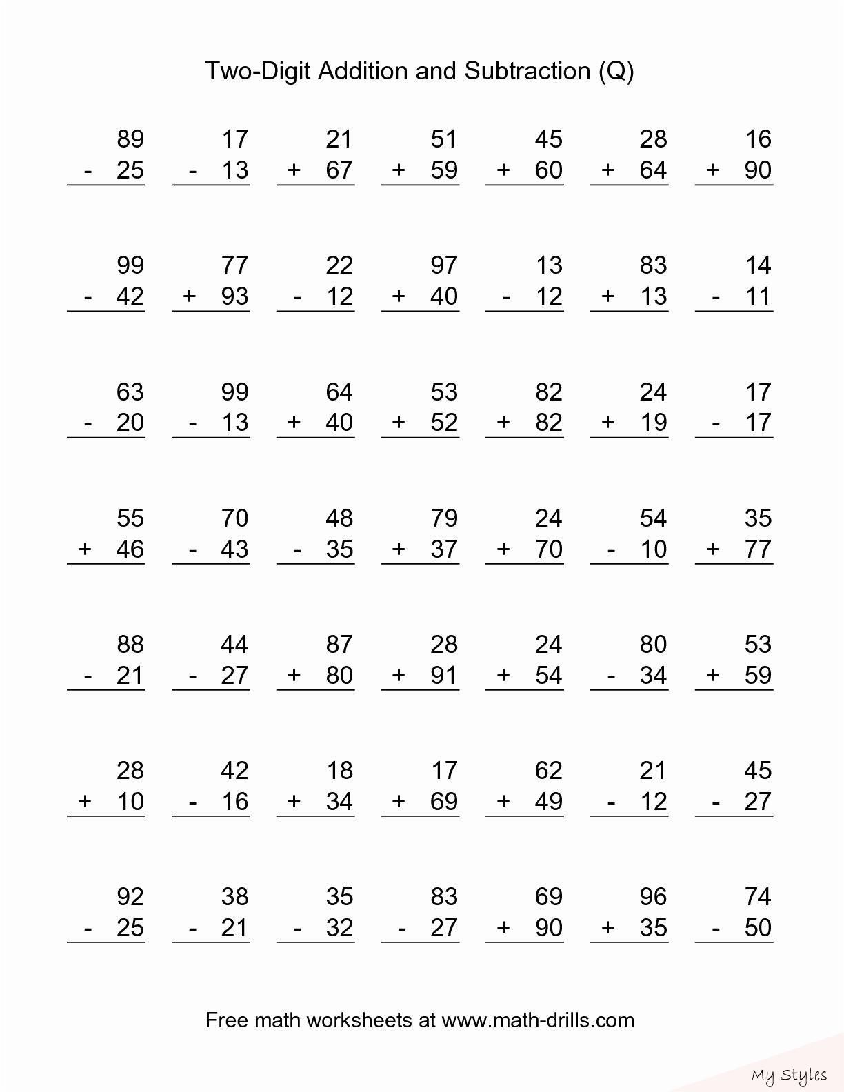 Pin On Earnestine Addition drill worksheets second grade