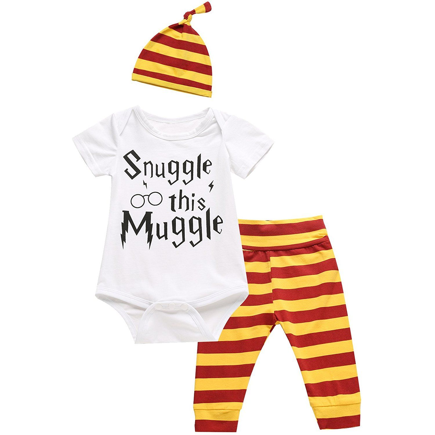 1cb2d687e2 3Pcs Outfit Set Baby Boy Girl Infant Snuggle this Muggle Rompers     You  can get additional details at the image link. (This is an affiliate link)    ...