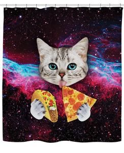 galaxy space cat taco pizza shower