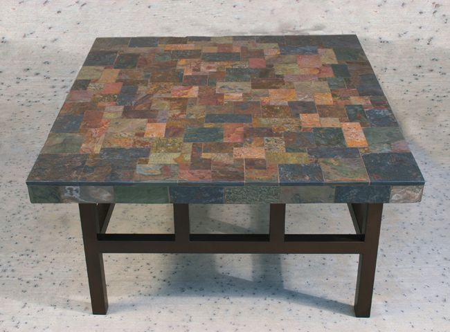 Natural Stone Tables   Stone Mosaic Tables. Slate Coffee ...