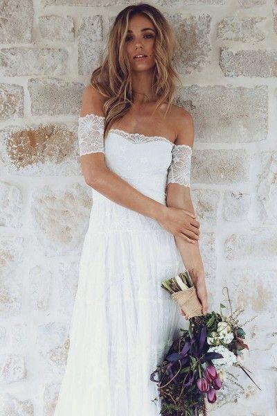 Boho Beauty - Dreamy Off-the-Shoulder Wedding Dresses - Photos