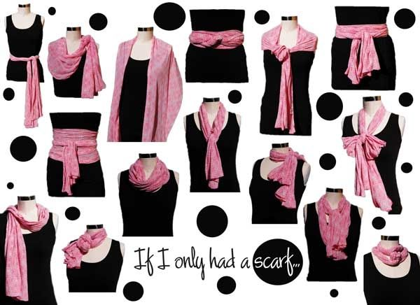 New ways to tie scarves...