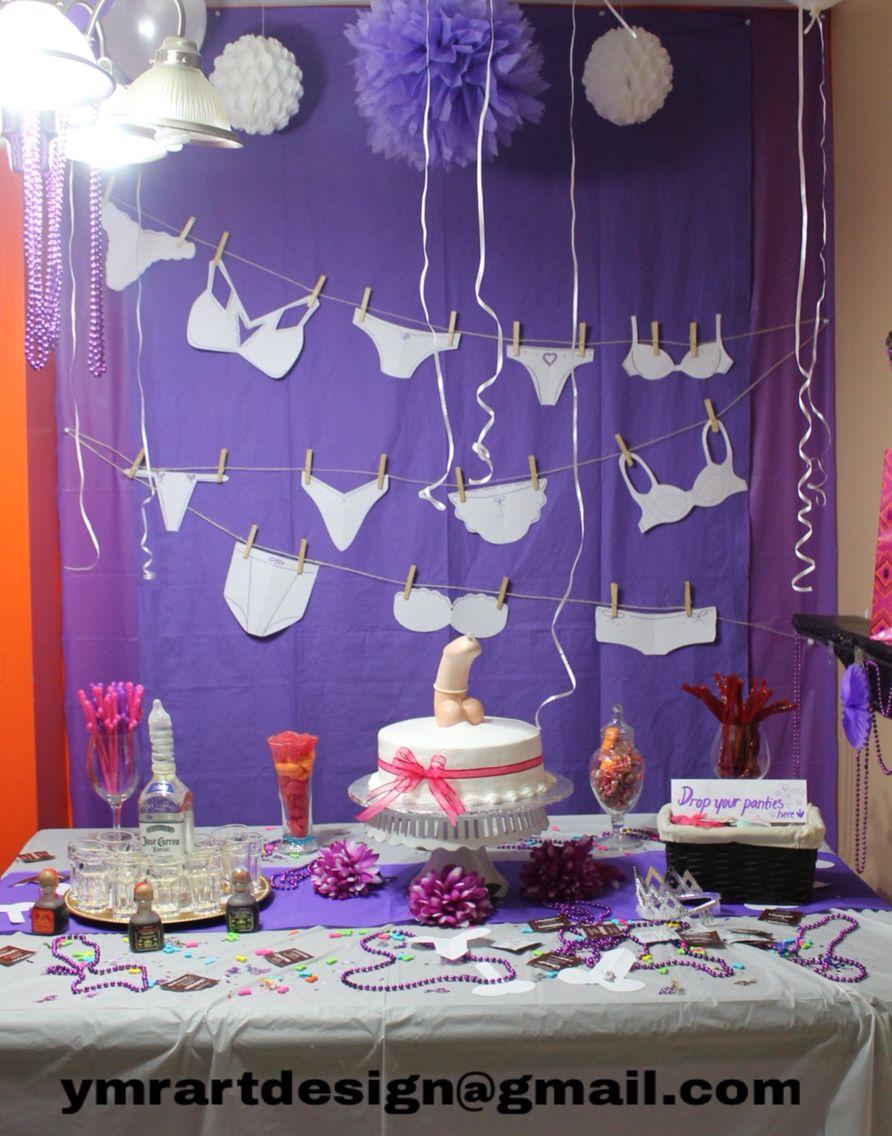 Nice Bachelorette Party Center Table Decoration