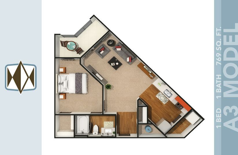 Apartments For Rent in Orlando | Floor plans, Two bedroom ...