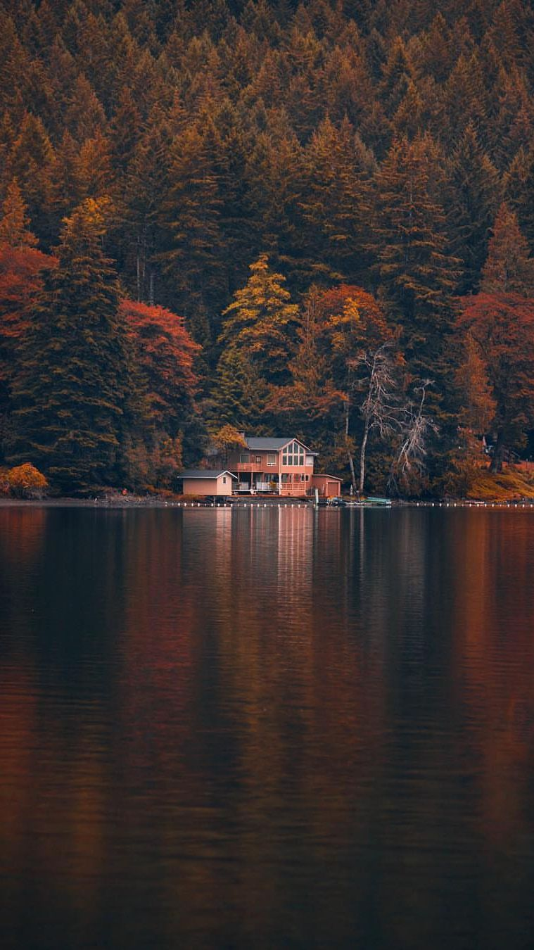 Lake House Canada Iphone Wallpaper Wallpaper Wallpapers