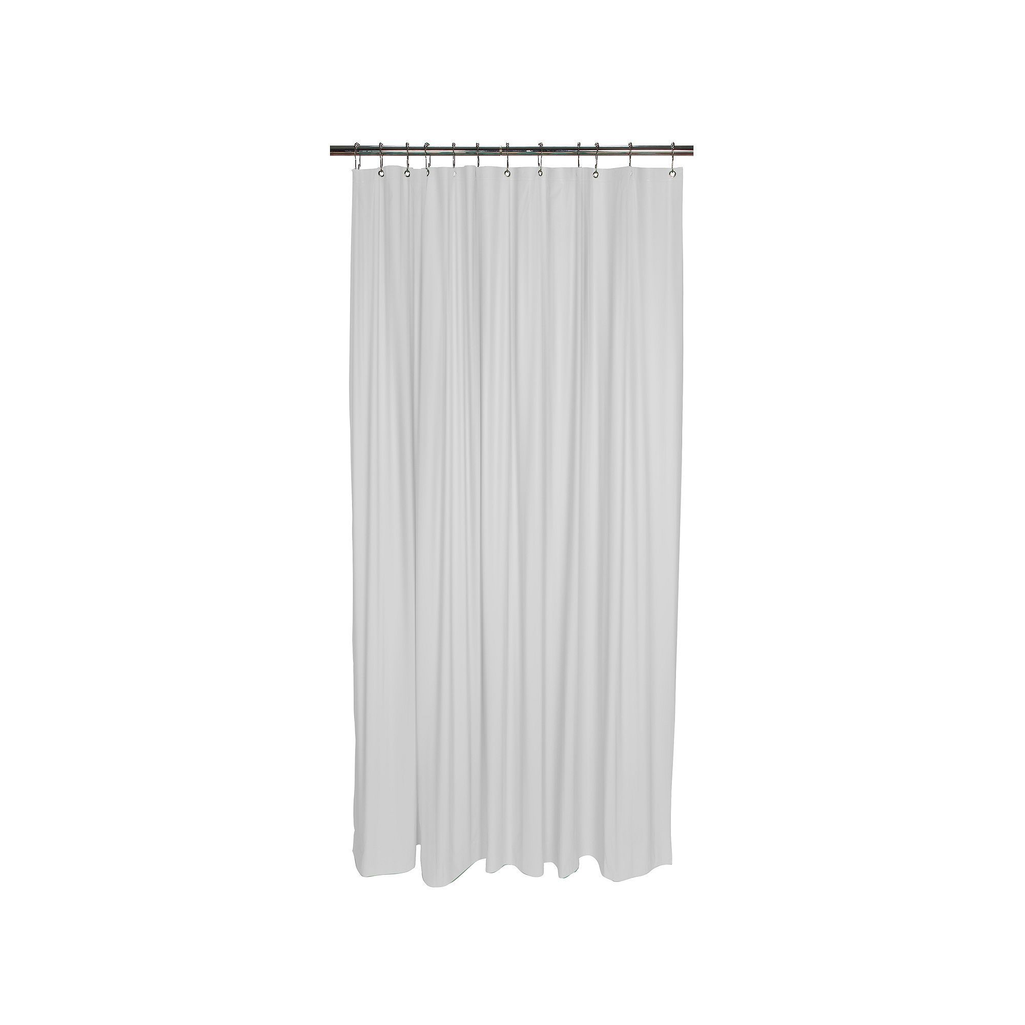 Bath Bliss Heavy Weight Mildew Resistant Shower Curtain Liner White