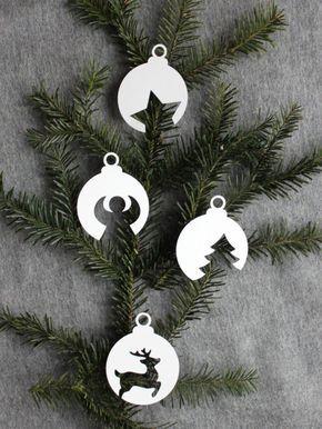 Weihnachtskugeln aus Papier [mit Vorlage] - HANDMADE Kultur