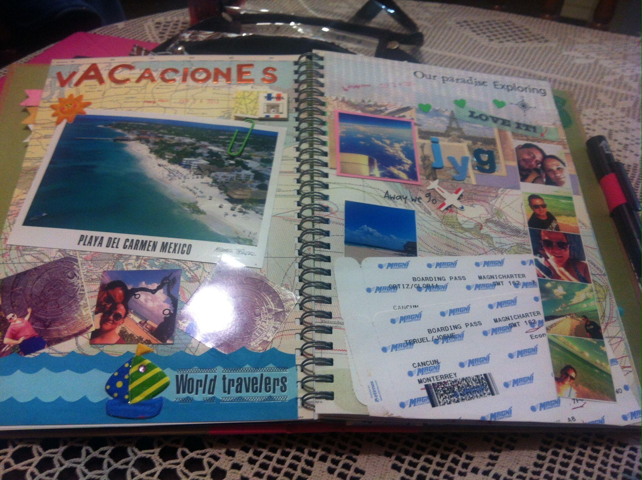 Vacation smashbook scrapbook