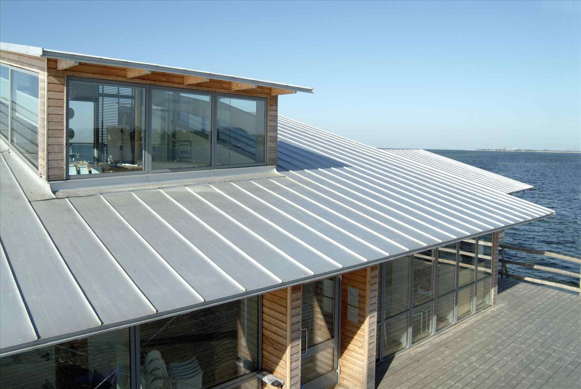 Metal Roof On Flat Roof Home Roof Ideas Metal Roof Colors Zinc Roof Roof Cost