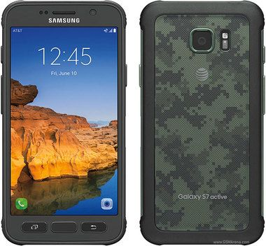 Samsung Galaxy S7 Active SM-G891A 32GB Green Camo AT&T Good