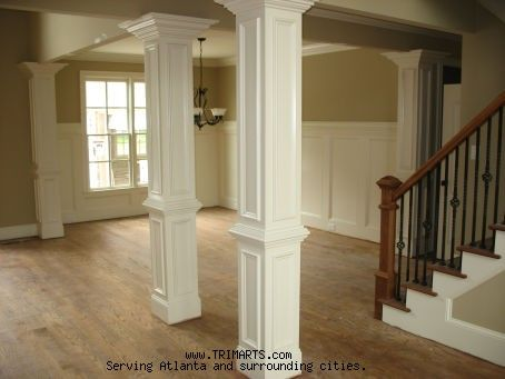 Decorative kitchen columns carpentry trim and for Columns in houses interior