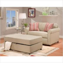 Awe Inspiring Walmart Stratford Canyon Twin Chair Bed And Storage Ottoman Creativecarmelina Interior Chair Design Creativecarmelinacom