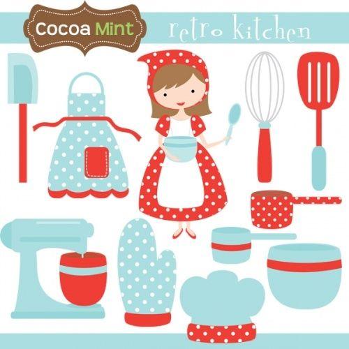 retro kitchen minus elementos infantiles pinterest rh pinterest com free kitchen clipart downloads free clipart kitchen utensils