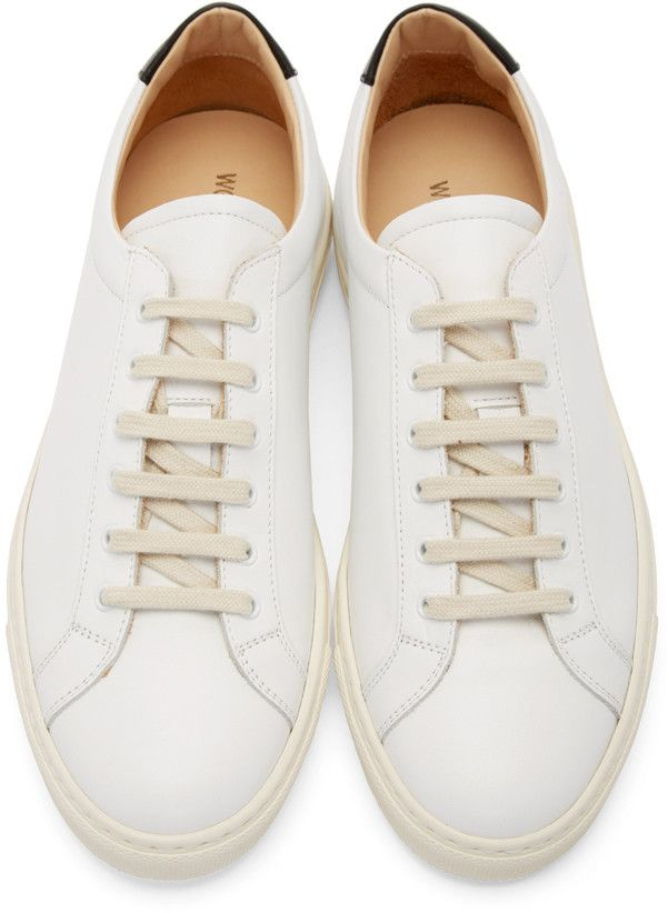 Woman by Common Projects White Archilles Retro Low-Top Sneakers