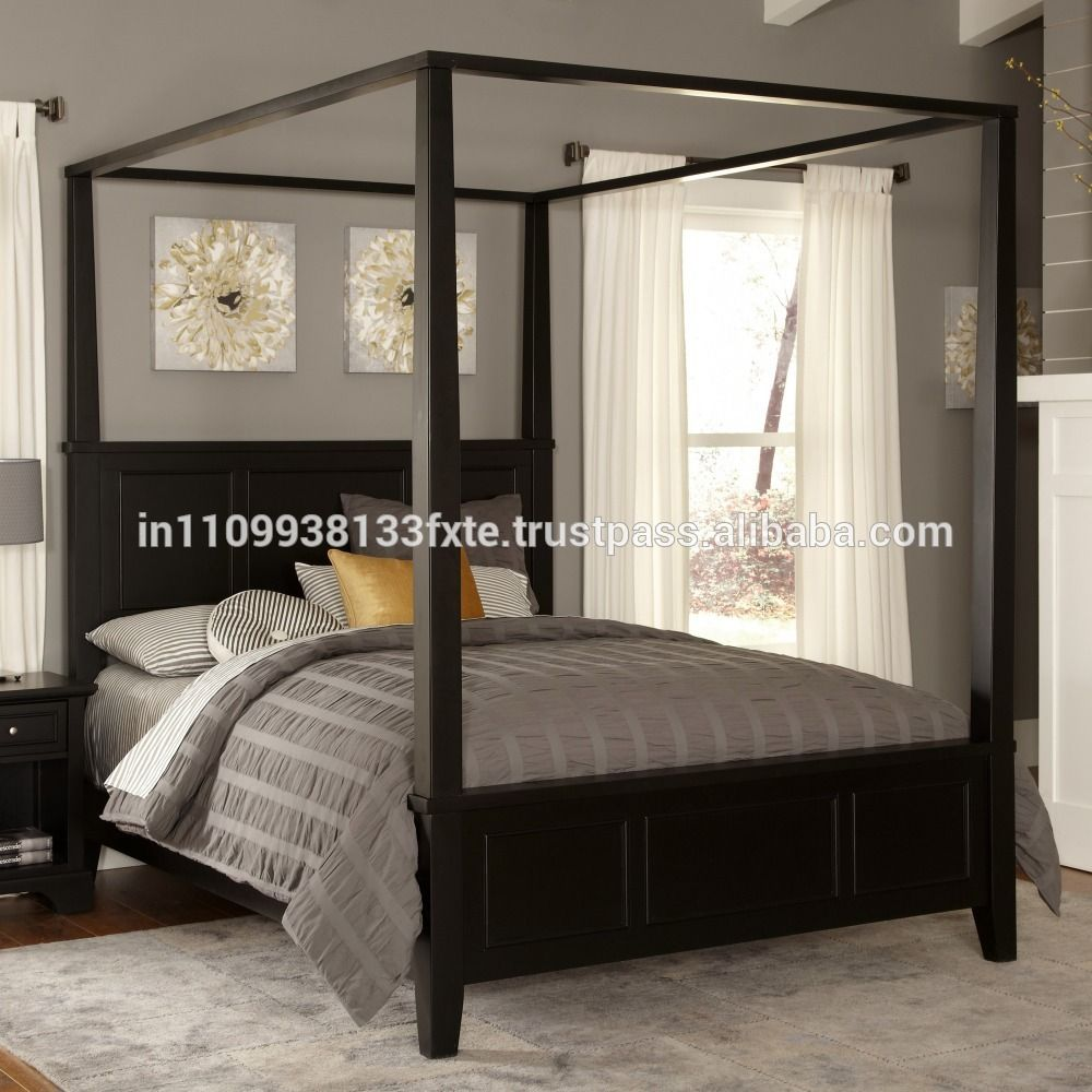 canopy bed wooden double designs for appartments charlotte ...