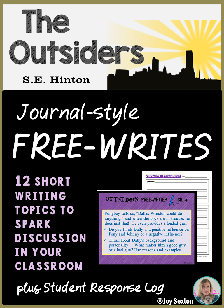 The OUTSIDERS - Free-Writes Journal-style Writing Prompts with \