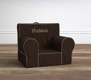 Anywhere Chair R Insert Amp Slipcover Set Chocolate Khaki