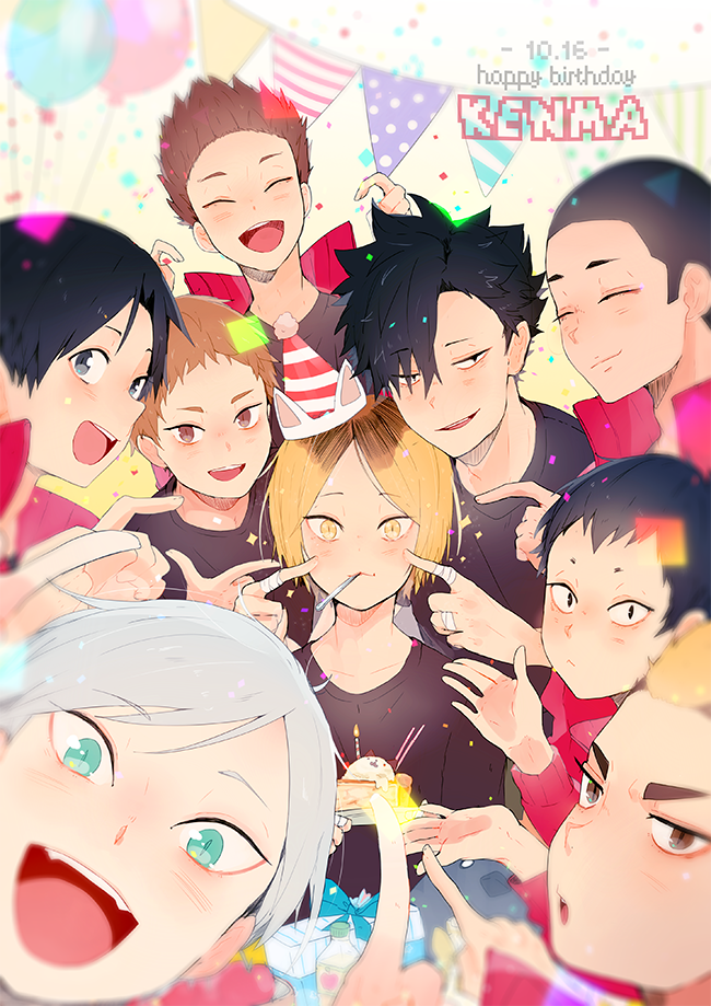 Lev is so cute his cat like eyes are popping!Kenma is