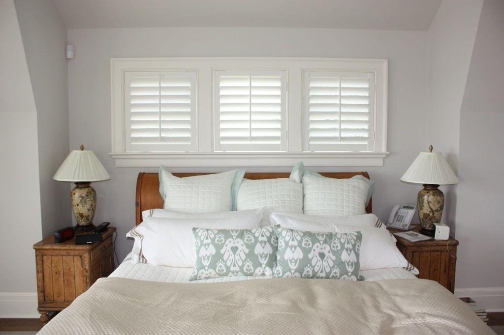 Plantation shutters bedroom schlafzimmer - Raffrollo schlafzimmer ...