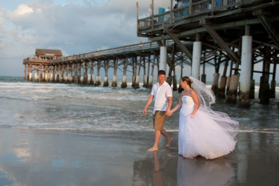 Cocoa Beach Pier Sunset Weddings Getting Married Got Wedding Packages