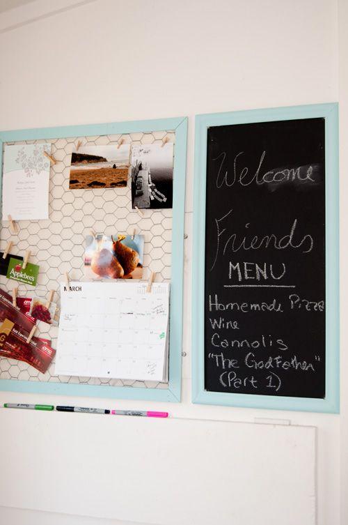 En Wire And Chalk Board Message Center Kitchen Worke