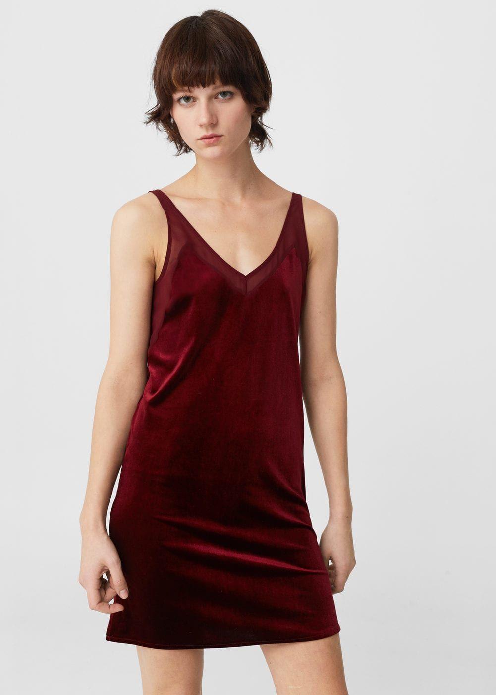 Velvet dress woman woman and fashion
