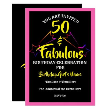 50 fabulous birthday party invitation party invitations and 50 fabulous birthday party invitation filmwisefo