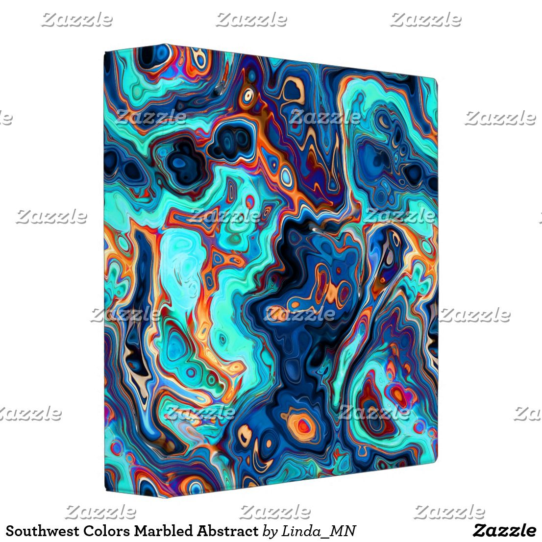 Southwest Colors Marbled Abstract Binder