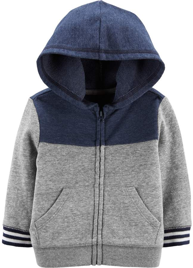 OshKosh BGosh Boys Colorblock Fleece Cozie Pullover