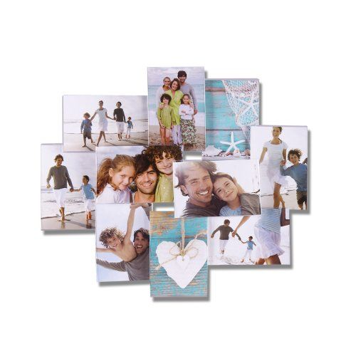 Adeco 10 Opening 4x6 Inch Transparent Plastic Wall Hanging Collage Picture Photo Frame Home Decor Framed Photo Collage Collage Picture Frames Picture Collage