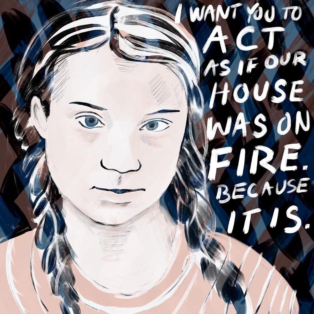 Greta Thunberg T-Shirt Mug Climate Change Environmental Activist Save The Planet