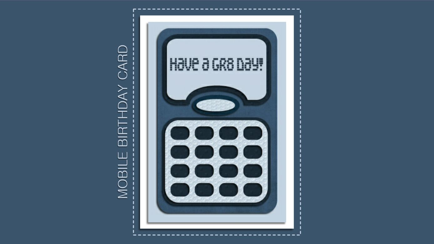 Free Mobile Phone Birthday Card SVG