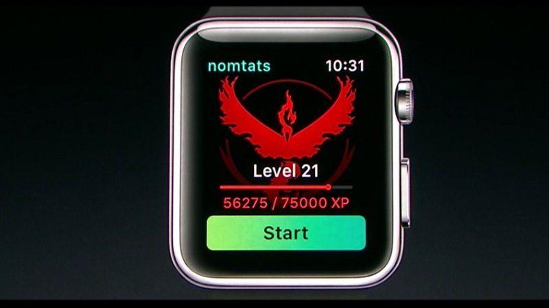 Niantic Announces Pokemon Go for Apple Watch https://t.co/8qA167t277 #AppleEvent http://pic.twitter.com/gHmVYBZ5if   App M0bile (@AppDevM0bile) September 7 2016