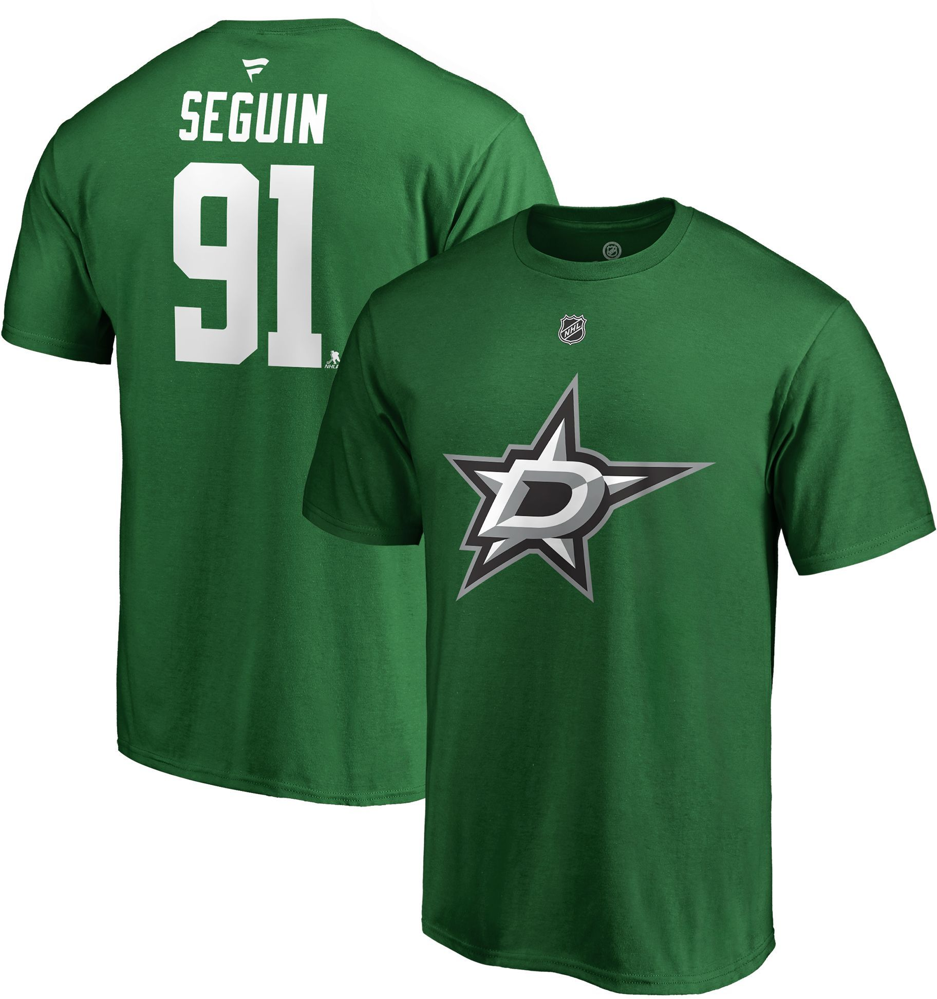 separation shoes 491a0 6e1eb NHL Men's Dallas Stars Tyler Seguin #91 Green Player T-Shirt ...