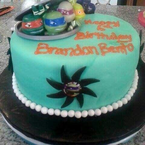Ninja Turtle Birthday Cake My custom cakes Pinterest Custom
