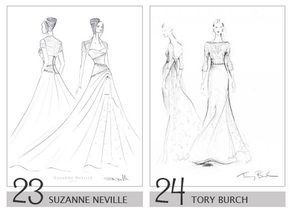 Royalty Wedding Dress Design Sketches - Suzanne Neville & Tory ...