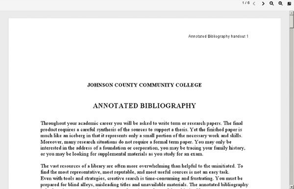 Cms Annotated Bibliography  Annotated Bibliography