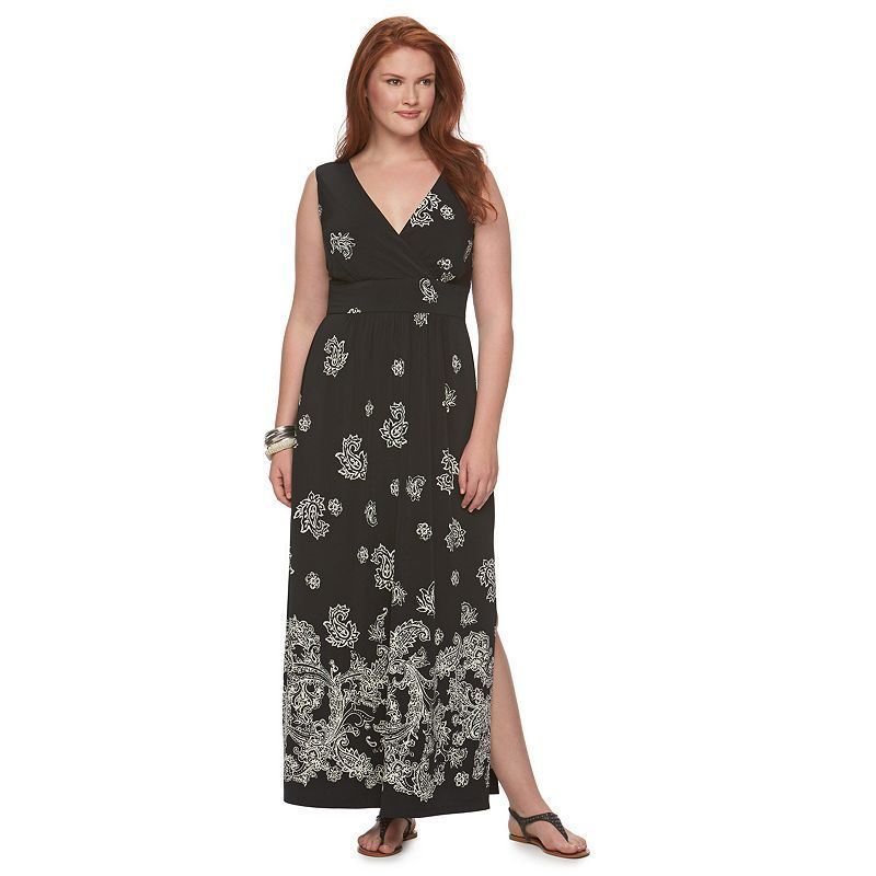 794458a1ce2 Plus Size Chaps Paisley Maxi Dress
