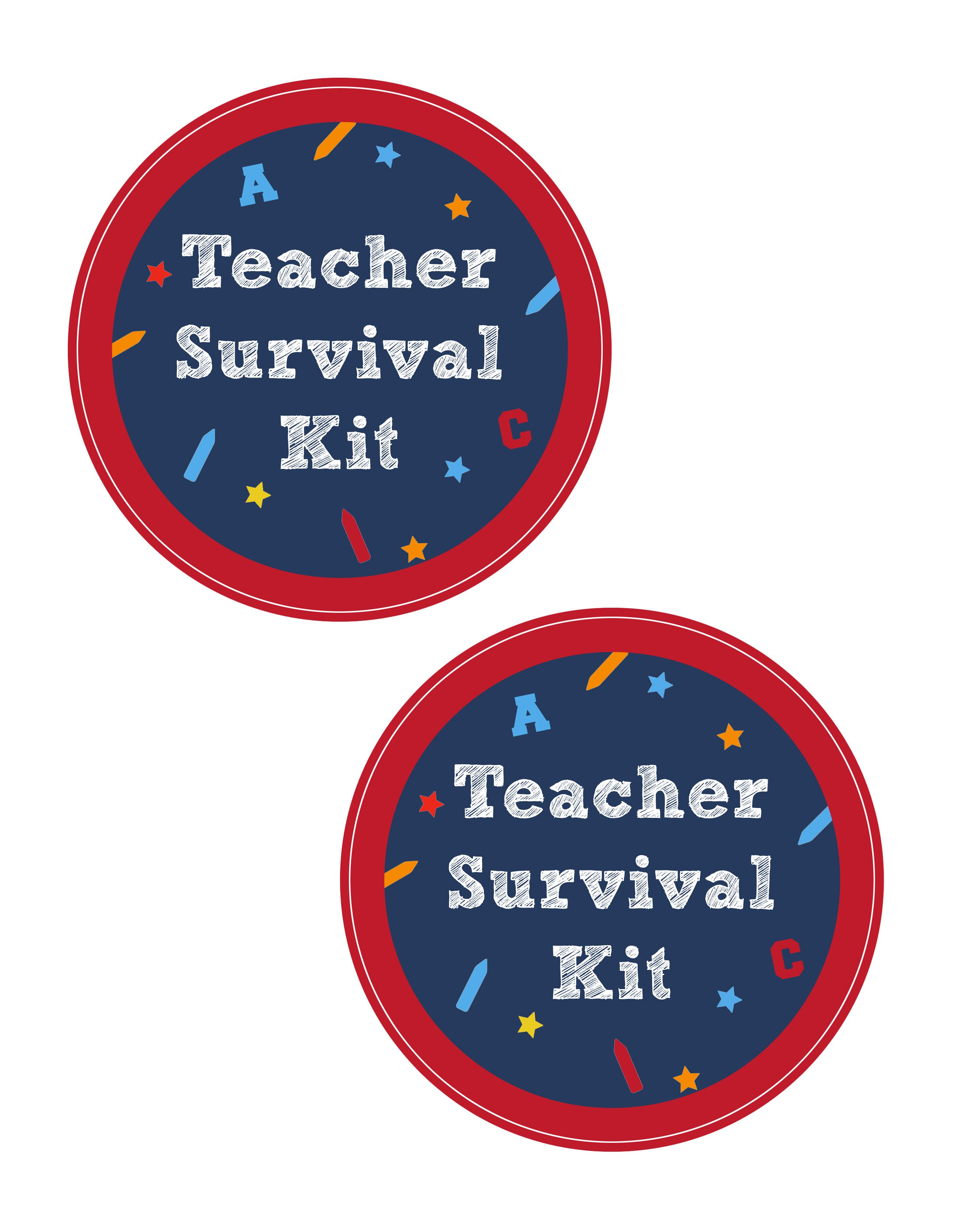 Crafty image inside teacher survival kit printable