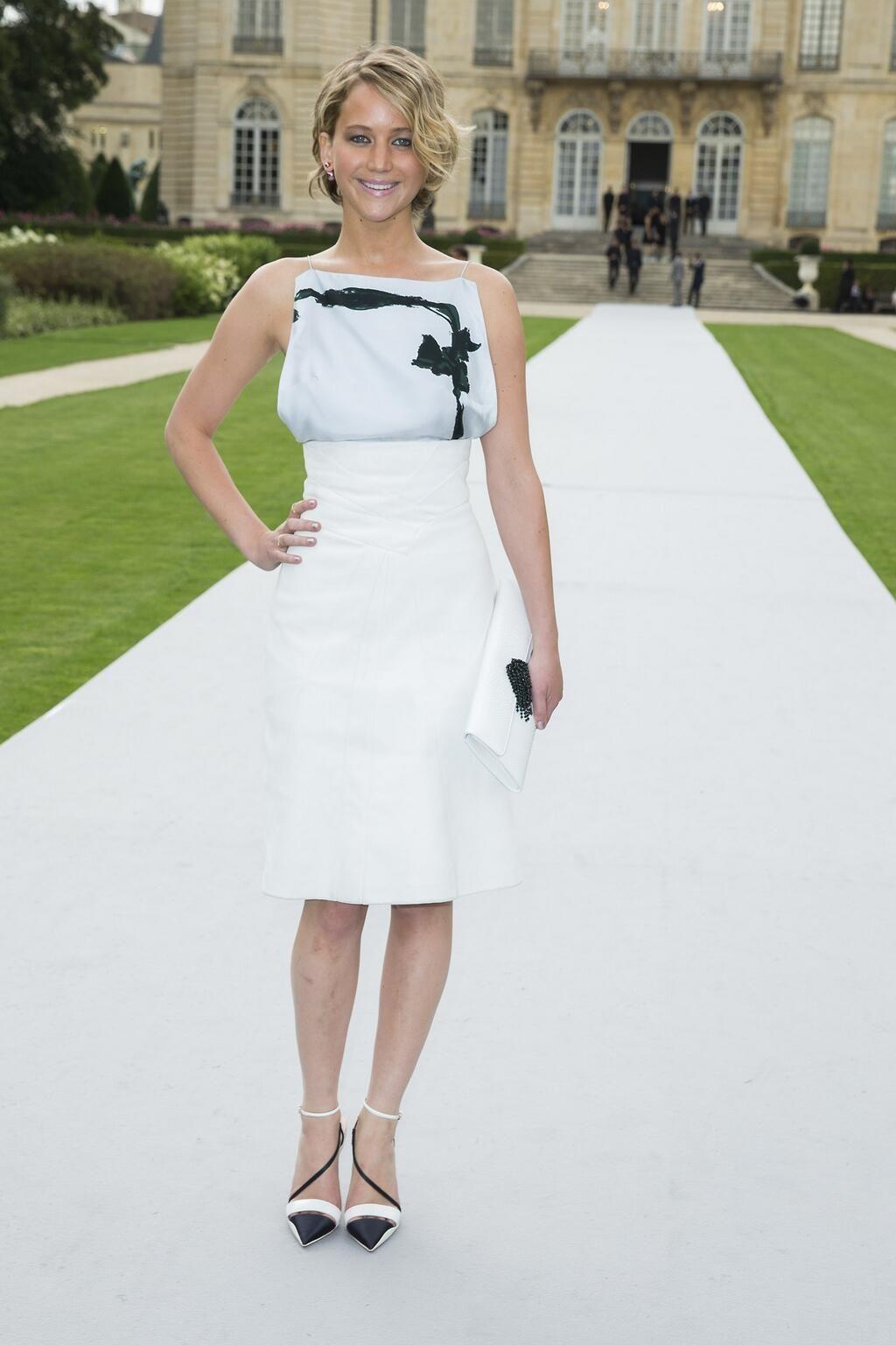 Jennifer Lawrence at Christian Dior fashion show, Paris 2014