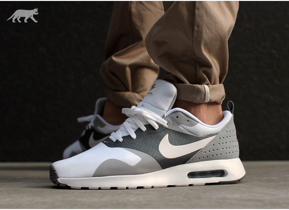 nike air max tavas (white \/ white - cool grey - wolf grey )