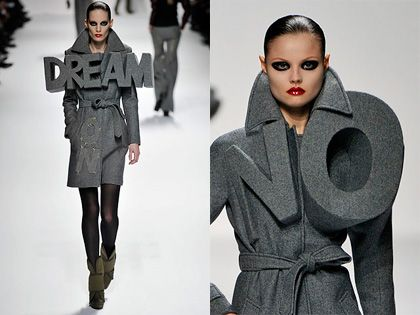 Viktor & Rolf typographic element to fashion