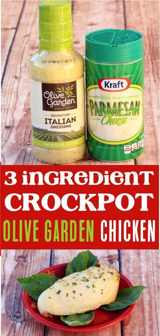Crockpot Olive Garden Chicken! This 3 ingredient Olive