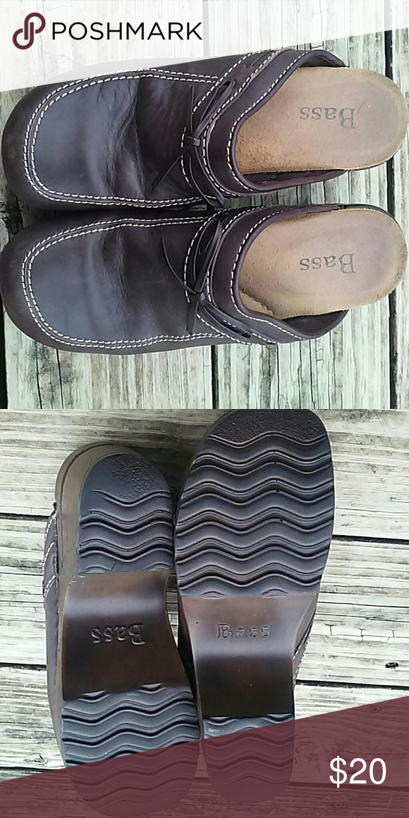 Bass clogs Hardly worn.  Size 7M Bass Shoes Mules & Clogs