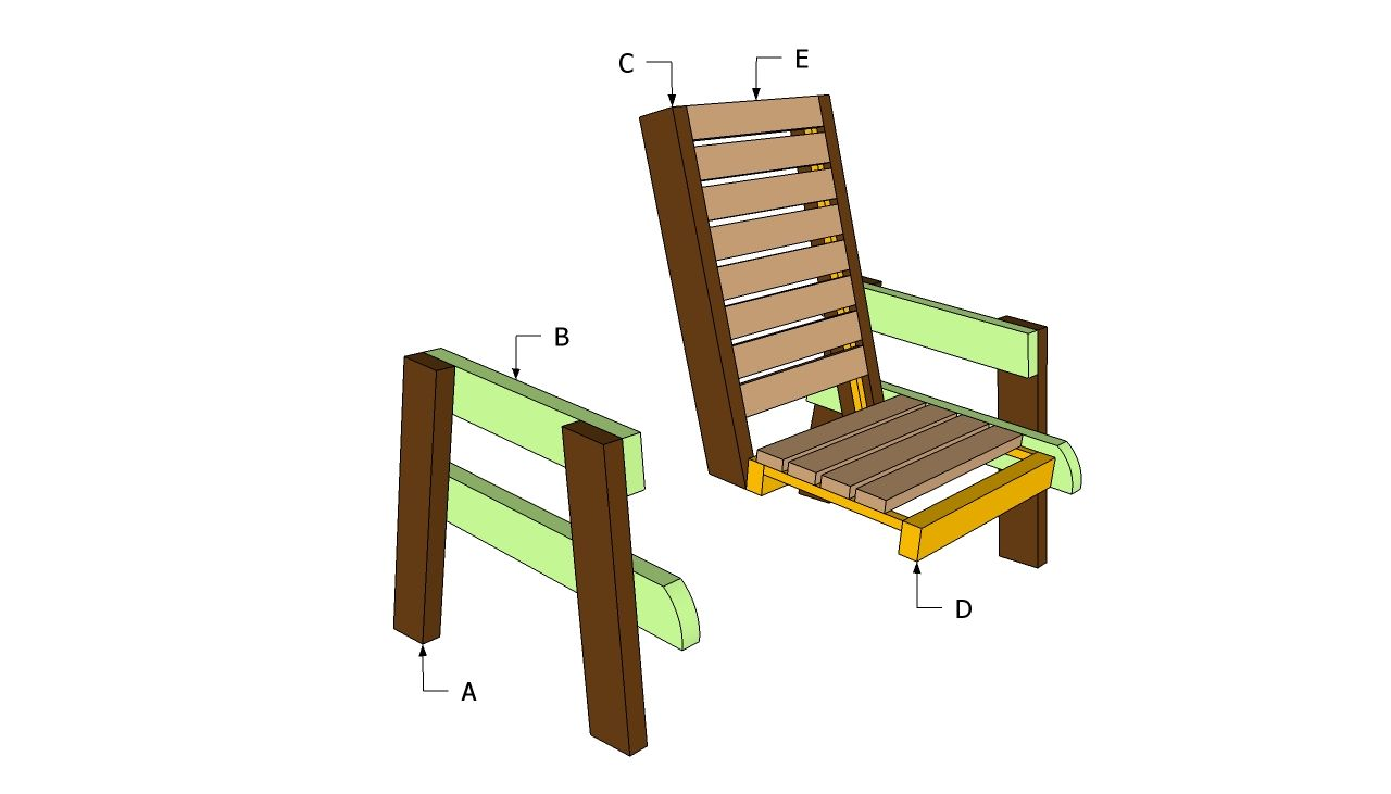 furniture wood plans how chair a make diy bench watch patio double to youtube