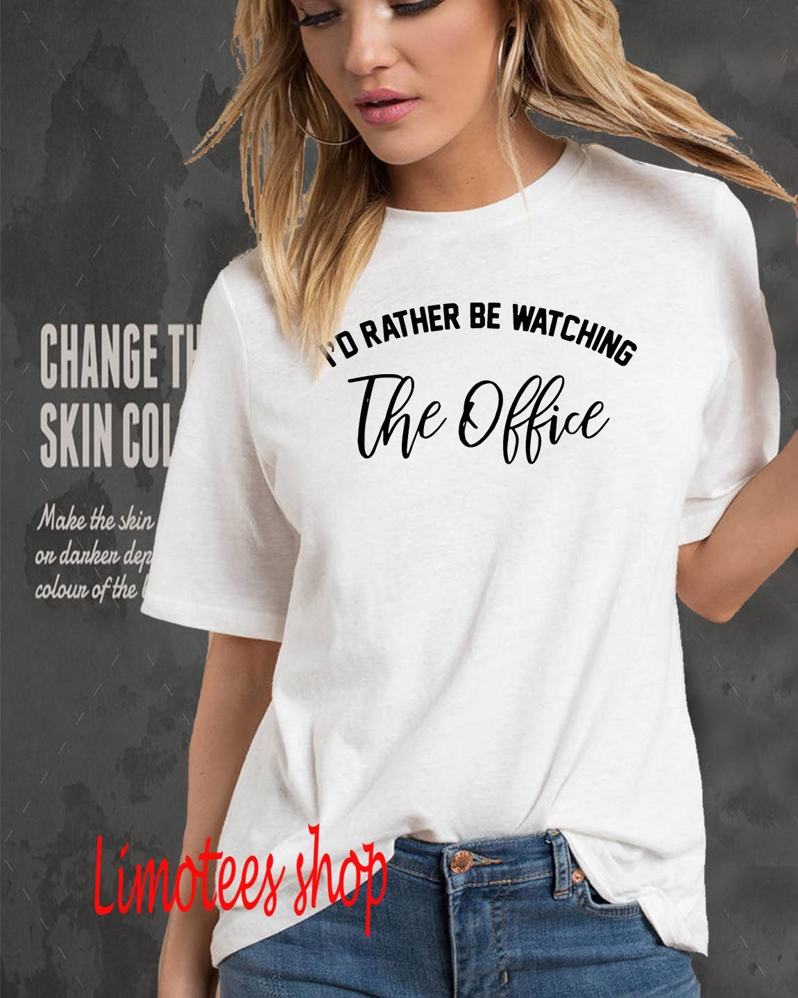 Id rather be watching the office shirt youth tee vneck