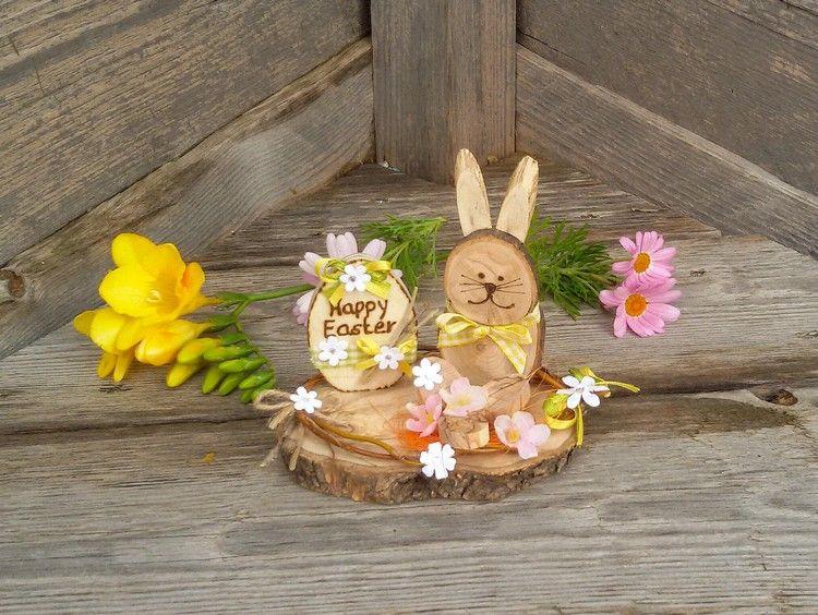 Osterdeko Ideen Basteln Mit Baumscheiben Holz #Easter #decor