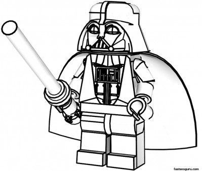 Free Printable Lego Star Wars Darth Vader coloring pages for kids